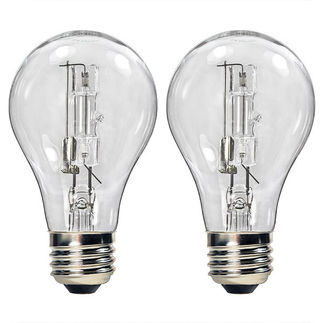 (2 Pack) 53 Watt - Clear - A19 Light Bulb - 120 Volt - 1,000 Life Hours - Bulbrite 115052
