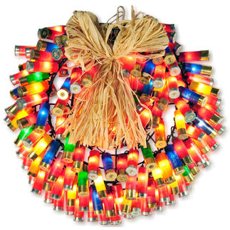 (150) Bulbs - Multi-Color Shotgun Shell Wreath
