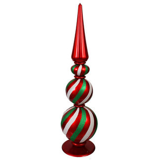 Giant Christmas Ball Tower - 58 in. - Red, White, and Green - Sterling 82510039