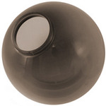 12 in. Smoke Acrylic Globe - 4 in. Extruded Neck Opening