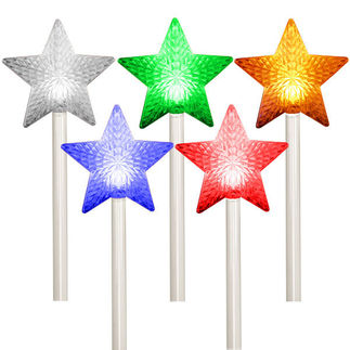 5 Star Path Markers - Color Changing LED Light Show - Battery Powered