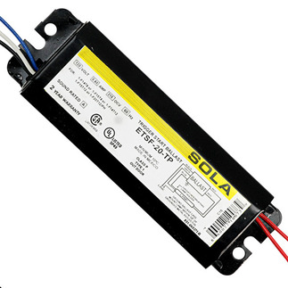 Sola ETSF-20-TP - 120 Volt - Trigger Start - Ballast Factor 0.91 - Power Factor 37% - Min. Temp. Rating 50 Deg. F - Operates (1) F14T12 Fluorescent Lamp