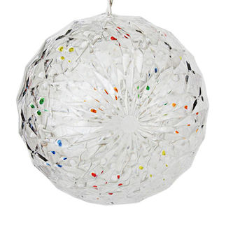 (20 LED Bulbs) Multi-color  - 120 Volt - 6 in. Diameter - White Wire - Christmas Lite Co. 92511018
