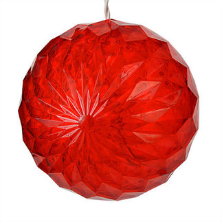 (20 LED Bulbs) Red - 120 Volt - 6 in. Diameter - White Wire - Christmas Lite Co. 92511017
