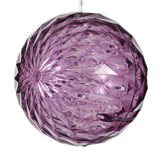 (20 LED Bulbs) Purple - 120 Volt - 6 in. Diameter - White Wire - Christmas Lite Co. 92511022