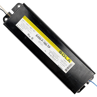 Sola E-450-F-160-TP - 120 Volt - Instant Start - Ballast Factor 0.93 - Power Factor 94% - Min. Temp. Rating 0 Deg. F - Operates (1) F96T12 Fluorescent Lamp