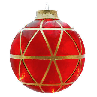 Illuminated - Hanging Mosaic Ball - Red - 16.5 in. - 20 Bulbs - Barcana 57-1079-01