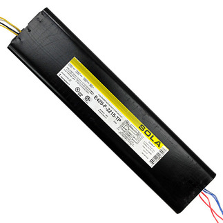 Sola E-420-F-2215-TP - 120 Volt - Rapid Start - Ballast Factor 0.95 - Power Factor 98% - Min. Temp. Rating -20 Deg. F - Operates (2) F96T12/VHO Fluorescent Lamps