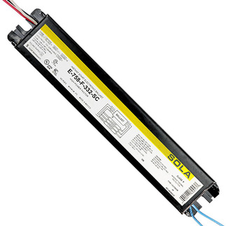 Sola E-758-F332 - 120 Volt - Instant Start - Ballast Factor 0.86 - Power Factor 98% - Min. Temp. Rating 32 Deg. F - Operates (3) F32T8 Fluorescent Lamps