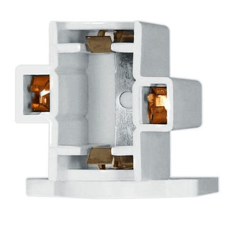 5 - 7 - 9 Watt - CFL Socket - 2 Pin G23 or G23-2 Base - Horizontal Screw Down - Satco 90-1541