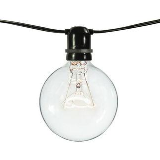 (75 Sockets) - Black Wire - 120 Volt - Commercial Duty Patio Light Stringer - Intermediate Base Socket - 100 ft.