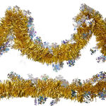 15 ft. - Snowflake Tinsel Garland