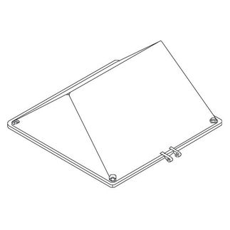 Clear Polycarbonate Lens with Gasket and Mounting Screws - PLT 28315