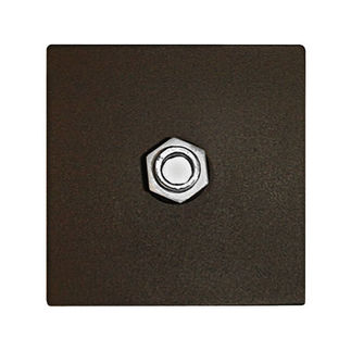 Mounting Plate for Wall Packs - Includes Die Cast Plate with Locknut, O-Ring, and Weatherproof Gasket - PLT 28562
