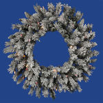 2 ft. Wreath - Flocked White/Sugar Pine - Multi-Color Lights