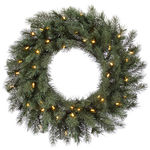 3 ft. Wreath - Blue and Green - Albany Spruce - Clear Lights