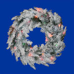 2.5 ft. Wreath - Flocked Alaskan Pine - Multi-Color Lights