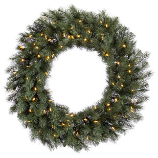2.5 ft. Wreath - Blue and Albany Spruce - Warm White LEDs