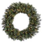 3.5 ft. Wreath - Blue and Albany Spruce - Warm White LEDs