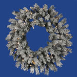 2.5 ft. Wreath - Flocked White/Sugar Pine - Clear Lights