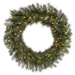 3.5 ft. Wreath - Green - Albany Spruce - Warm White LEDs