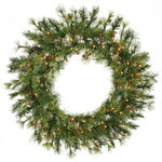 3 ft. Wreath - Green - Mixed Country Pine - Clear Lights