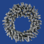 3 ft. Wreath - Flocked White/Green - Sugar Pine - Unlit