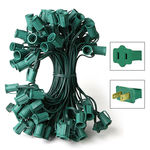 C7 Stringer - 25 Foot - 25 Sockets - 12 in. Spacing - Green Wire - Commercial Christmas Lights - Superior Holiday Lighting XSC25G12E C7 Stringer