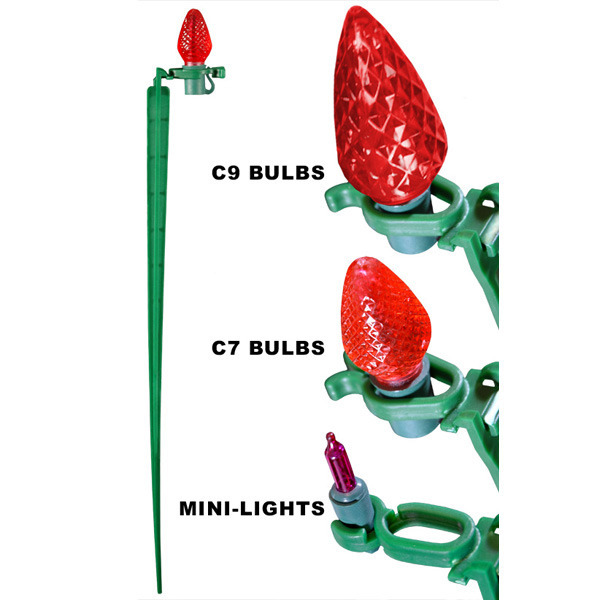 15 In Tall Christmas Light Stakes Pack Of 25