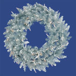 6 ft. Christmas Wreath - Classic PVC Needles - Silver