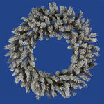 3 ft. Wreath - Flocked White/Sugar Pine - Clear Lights