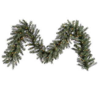 9 ft. Garland - Blue and Albany Spruce - Clear Lights