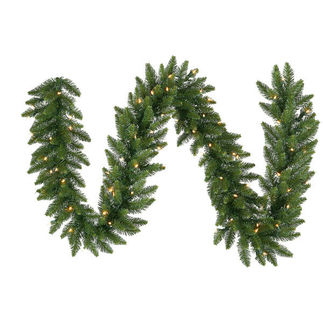 50 ft. Garland - Camdon Fir - Frosted Warm White LEDs