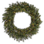 2.5 ft. Wreath - Green - Albany Spruce - Clear Lights
