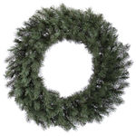 4 ft. Wreath - Blue and Green - Albany Spruce - Unlit