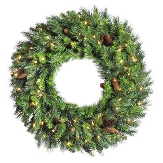 2.5 ft. Wreath - Green - Cheyenne Pine - Clear Lights