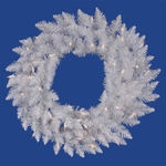 3 ft. Wreath - Sparkle White - Spruce - Clear Lights