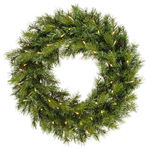 2.5 ft. Wreath - Green - Augusta Pine - Clear Lights
