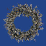 3 ft. Wreath - Frosted - Wistler Fir - Clear Lights