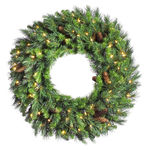 2 ft. Wreath - Green - Cheyenne Pine - Clear Lights