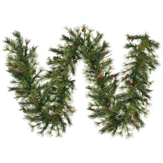 9 ft. Garland - Green - Mixed Country Pine - Unlit
