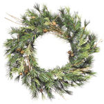 16 in. Wreath - Green - Mixed Country Pine - Unlit
