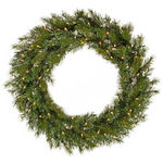 3 ft. Wreath - Green - Augusta Pine - Clear Lights