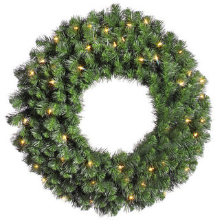 3 ft. Wreath - Green - Douglas Fir - Clear Lights