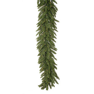 9 ft. Garland - Green - Camdon Fir - Clear Lights