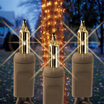 Clear - 120 Volt - 150 Bulbs - 6 ft. x 12 in. - 20 AWG - Brown Wire - Christmas Tree Trunk Wrap Lights - Superior Holiday Lighting 150TRKCLBW - Brown Wire Tree Wrapping Lights