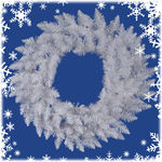 6 ft. Wreath - Sparkle White - Spruce - Unlit
