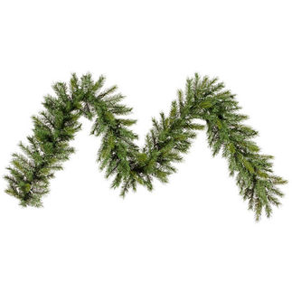 9 ft. Garland - Green - Augusta Pine - Unlit