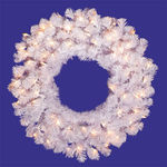 3 ft. Wreath - Crystal White - Clear Lights