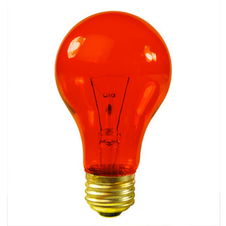 25 Watt - Transparent Orange - A19 - 120 Volt - 2,500 Life Hours - Party Light Bulb - Bulbrite 105525